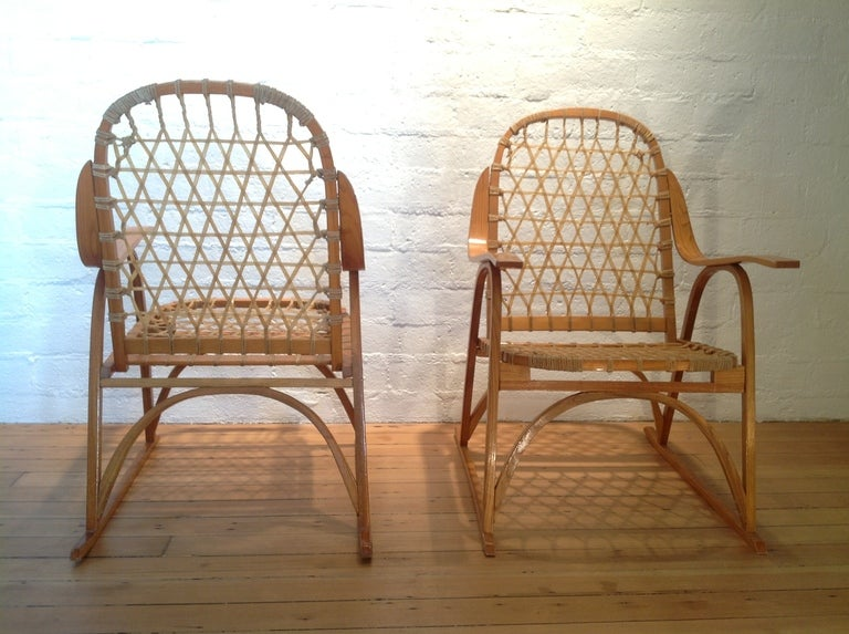 A Pair Of Snow Shoe Chairs By Snocraft At 1stdibs