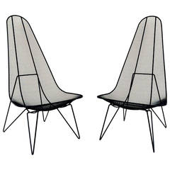 Pair of Sol Bloom Scoop Chairs