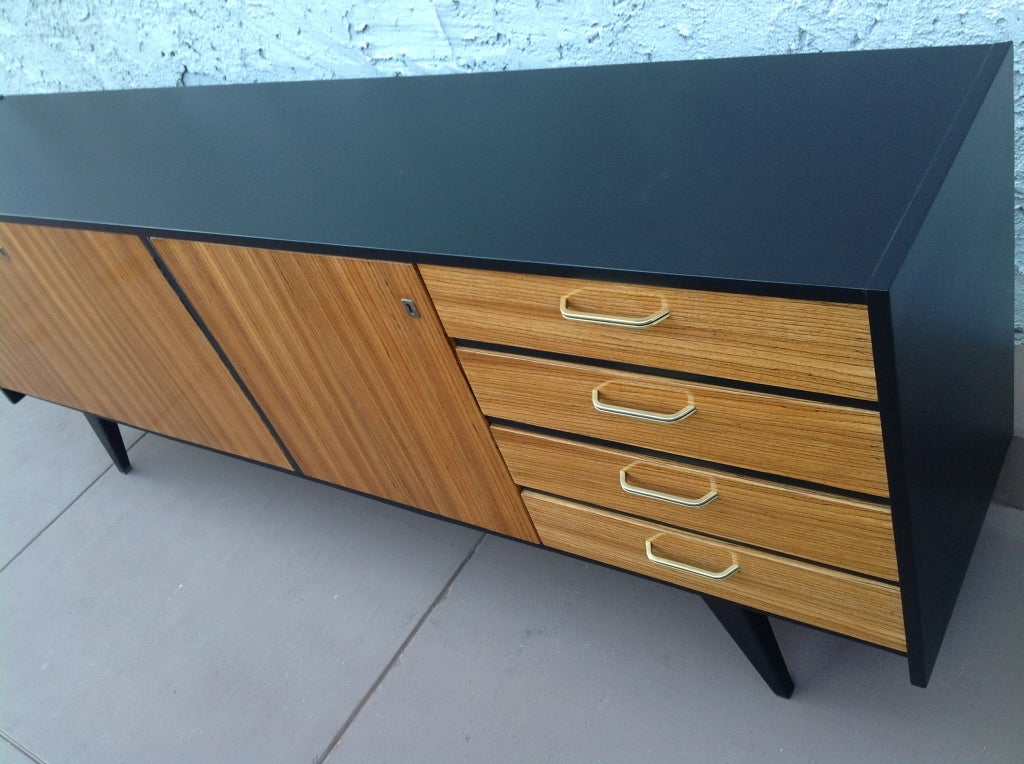 A Stunning Zebra Wood Credenza At 1stdibs