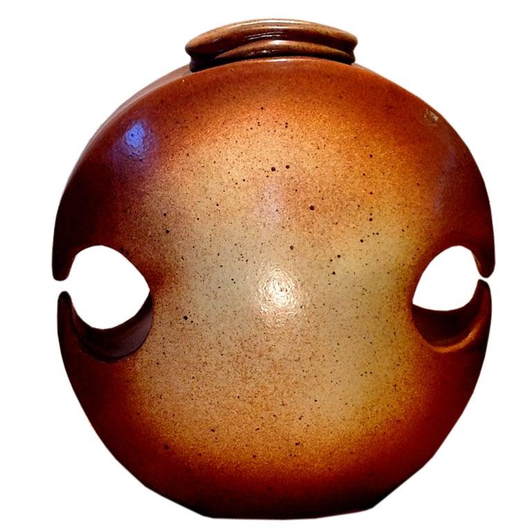 A monumental studio pottery vessel signed Hammer
