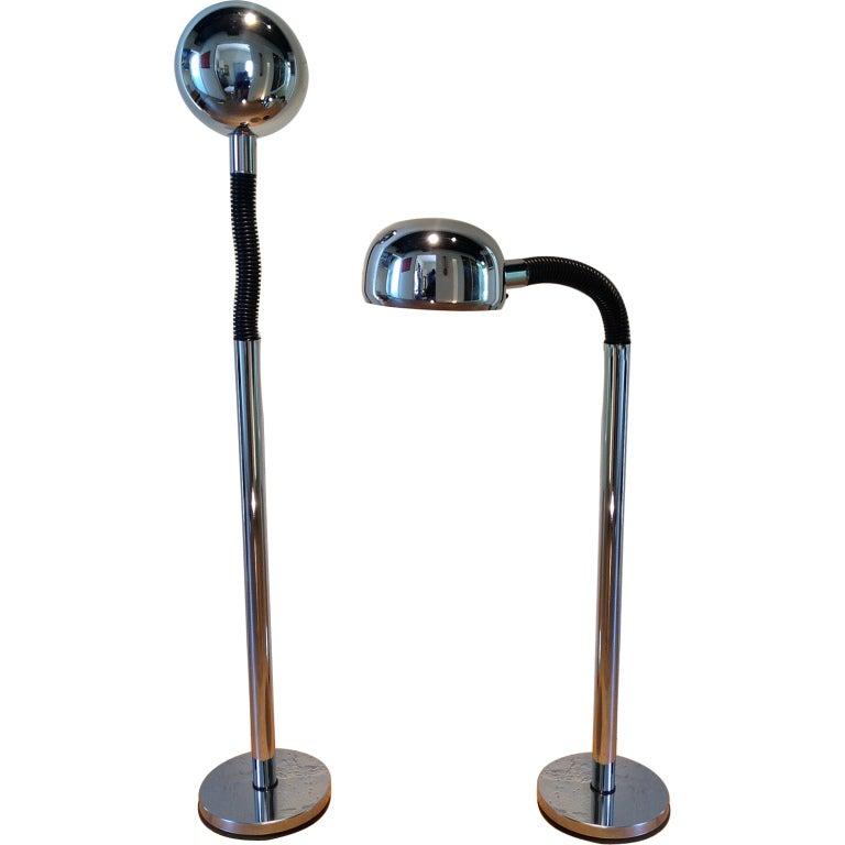 Pair of Periscopio Floor Lamps by Danilo & Corrado Aroldi For Sale
