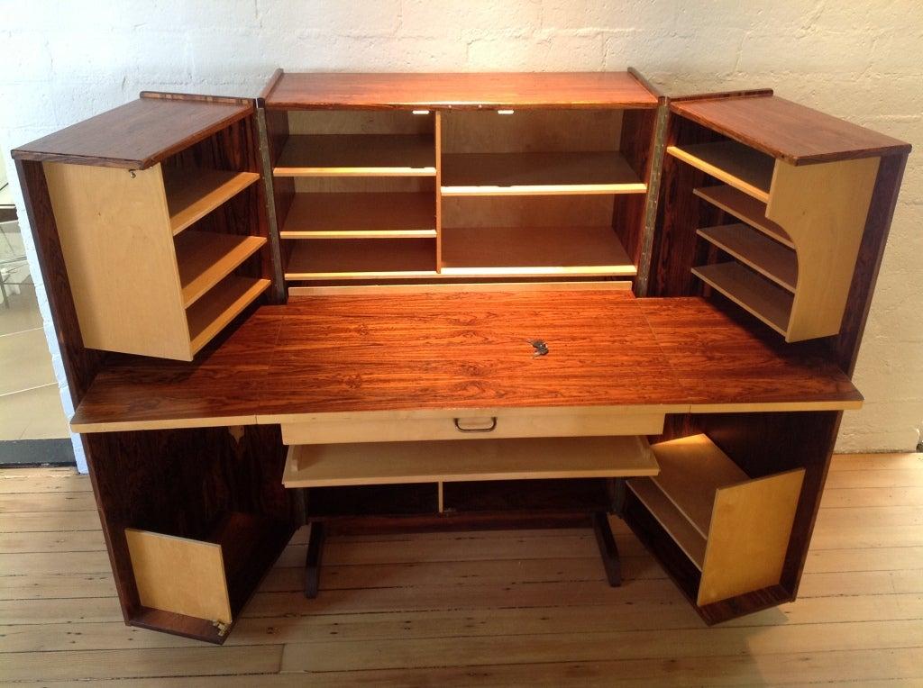 Rosewood Fold Up Desk At 1stdibs