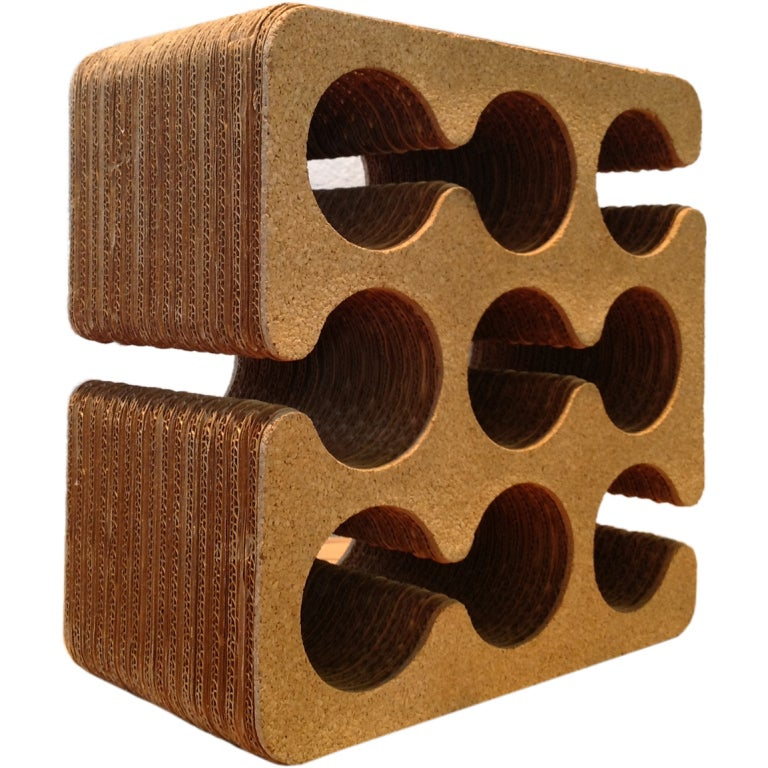 Frank Gehry Cork And Corrugated Cardboard Wine Rack At 1stdibs
