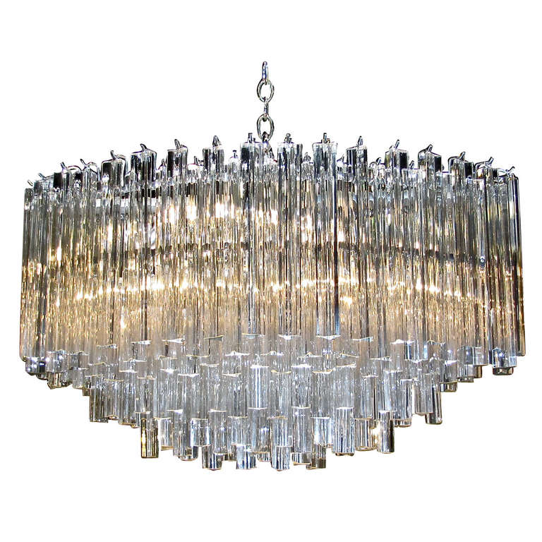 Huge oval venini italian triedi crystal prism chandelier at 1stdibs huge oval venini italian triedi crystal prism chandelier for sale aloadofball Gallery