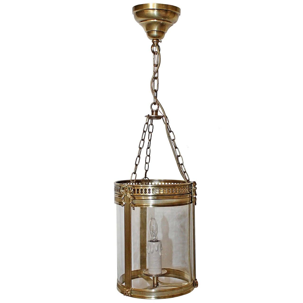 Diminutive french brass lantern pendant light for sale at 1stdibs diminutive french brass lantern pendant light 1 arubaitofo Images