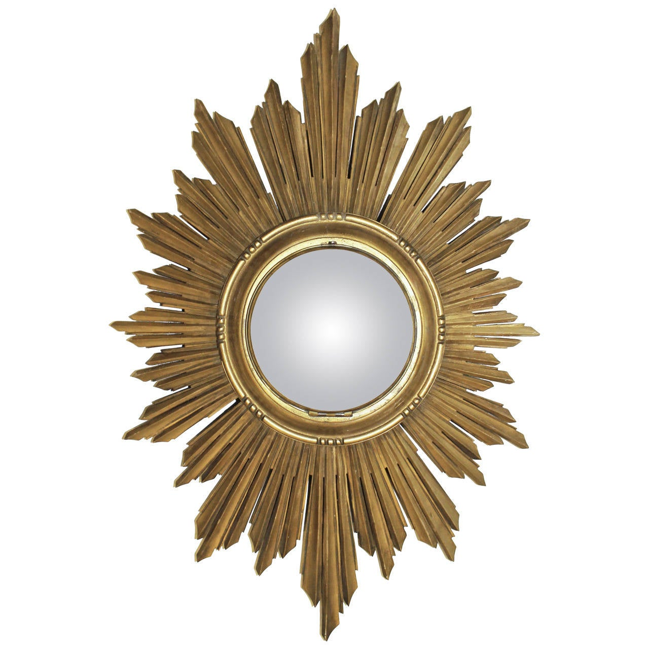 French soleil sunburst giltwood carved wall mirror for for French mirror