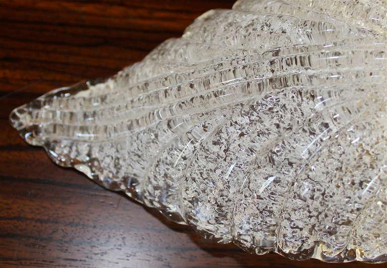 Pair Barovier Murano Glass Rugiadoso Leaf Wall Sconces 2