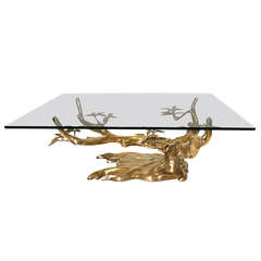 Willy Daro Bronze Organic Tree Form Cocktail Table