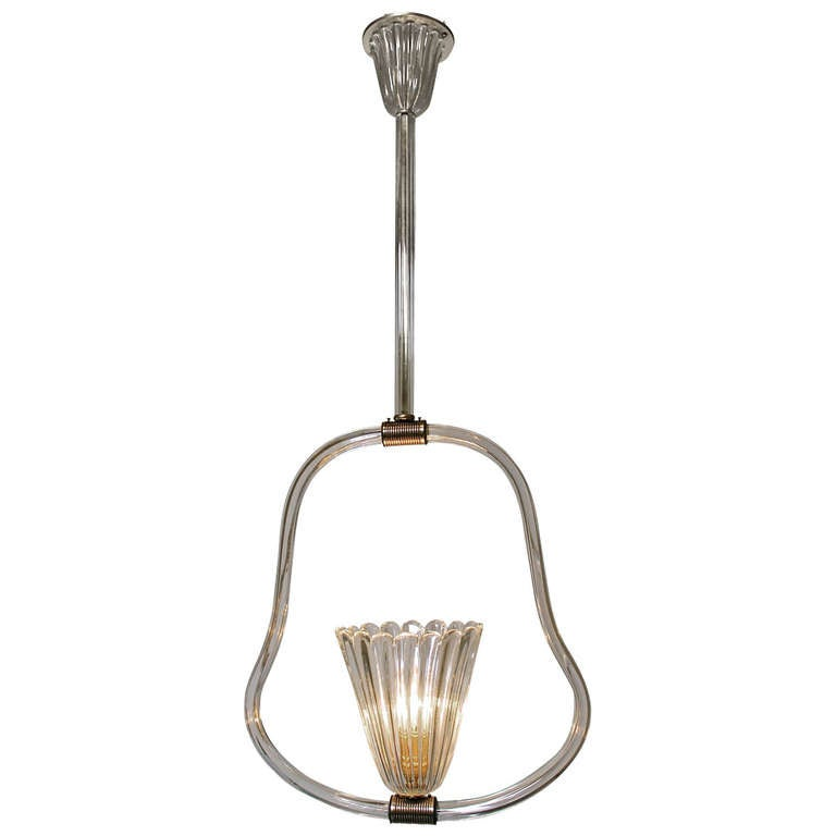 Barovier Murano Glass Pendant Light Chandelier