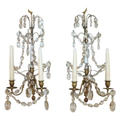 Pair of Swedish Gustavian Baltic Candle Wall Sconces