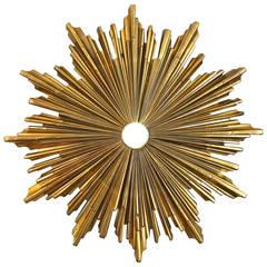 E.F. Caldwell d'Ore Bronze Sunburst Ceiling Mount Light or Medallion