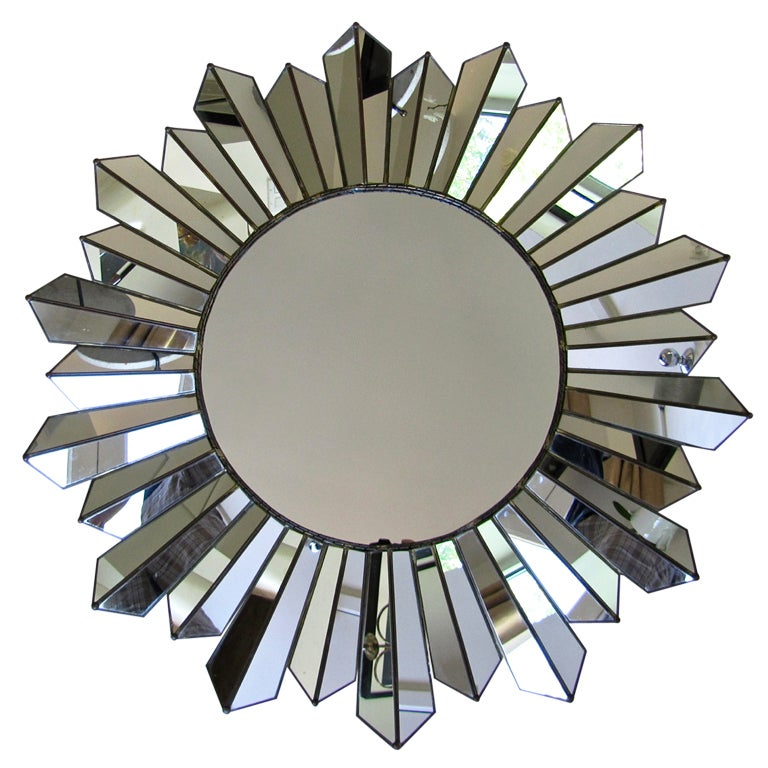 Sunburst Wall Mirror large soleil sunburst wall mirror for sale at 1stdibs