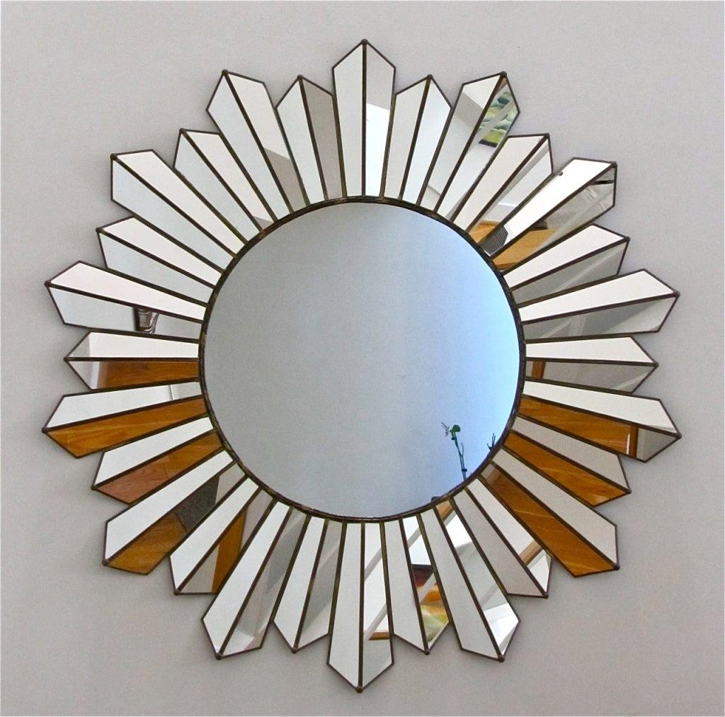 Large soleil sunburst wall mirror at 1stdibs for Sunburst mirror