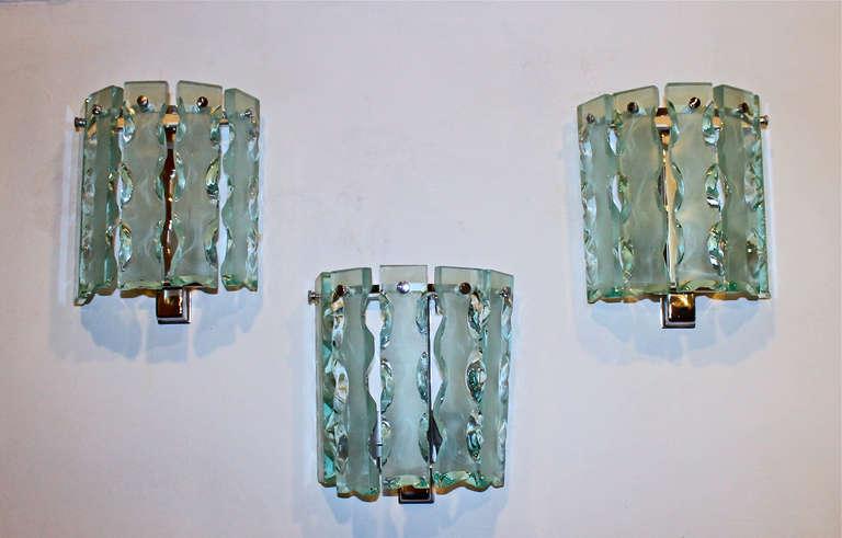 Trio of Fontana Arte Style