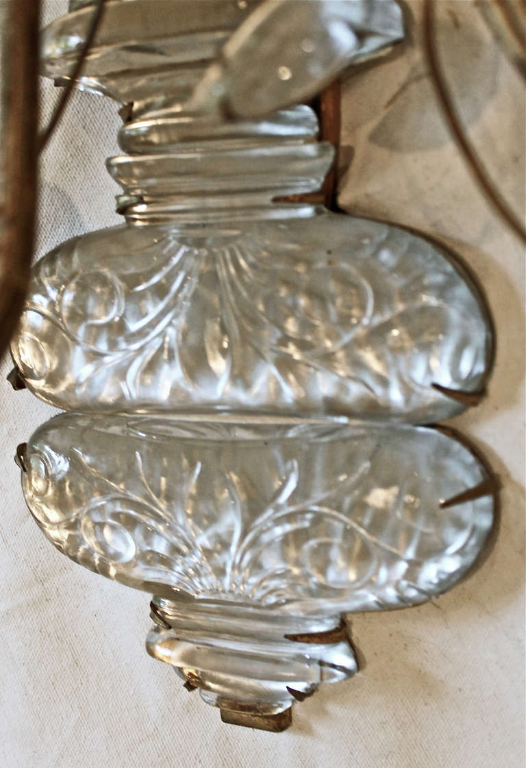 Single Large Bagues French Floral Urn Gilt Wall Sconce at 1stdibs