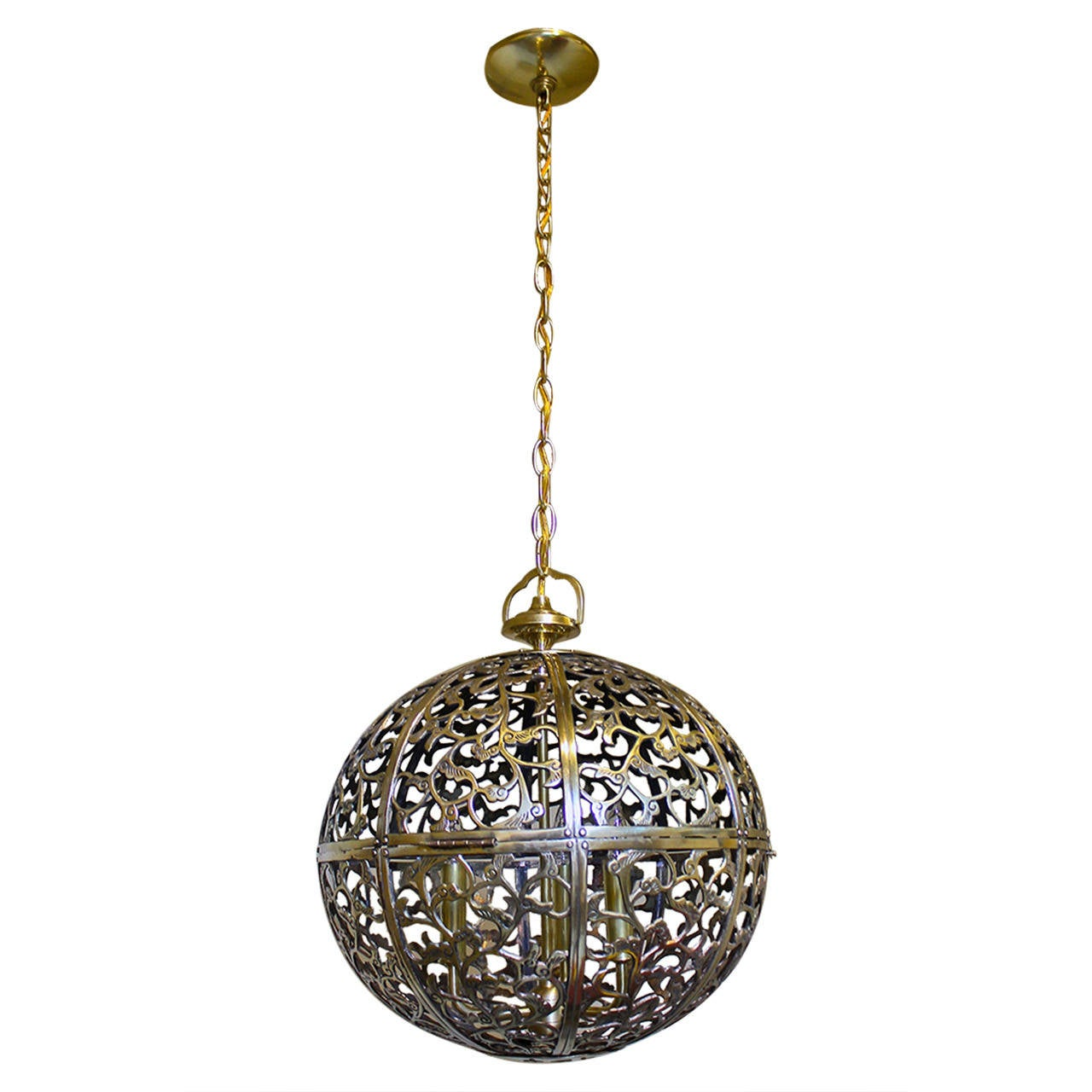 asian pendant lighting. large pierced brass asian pendant light 1 lighting