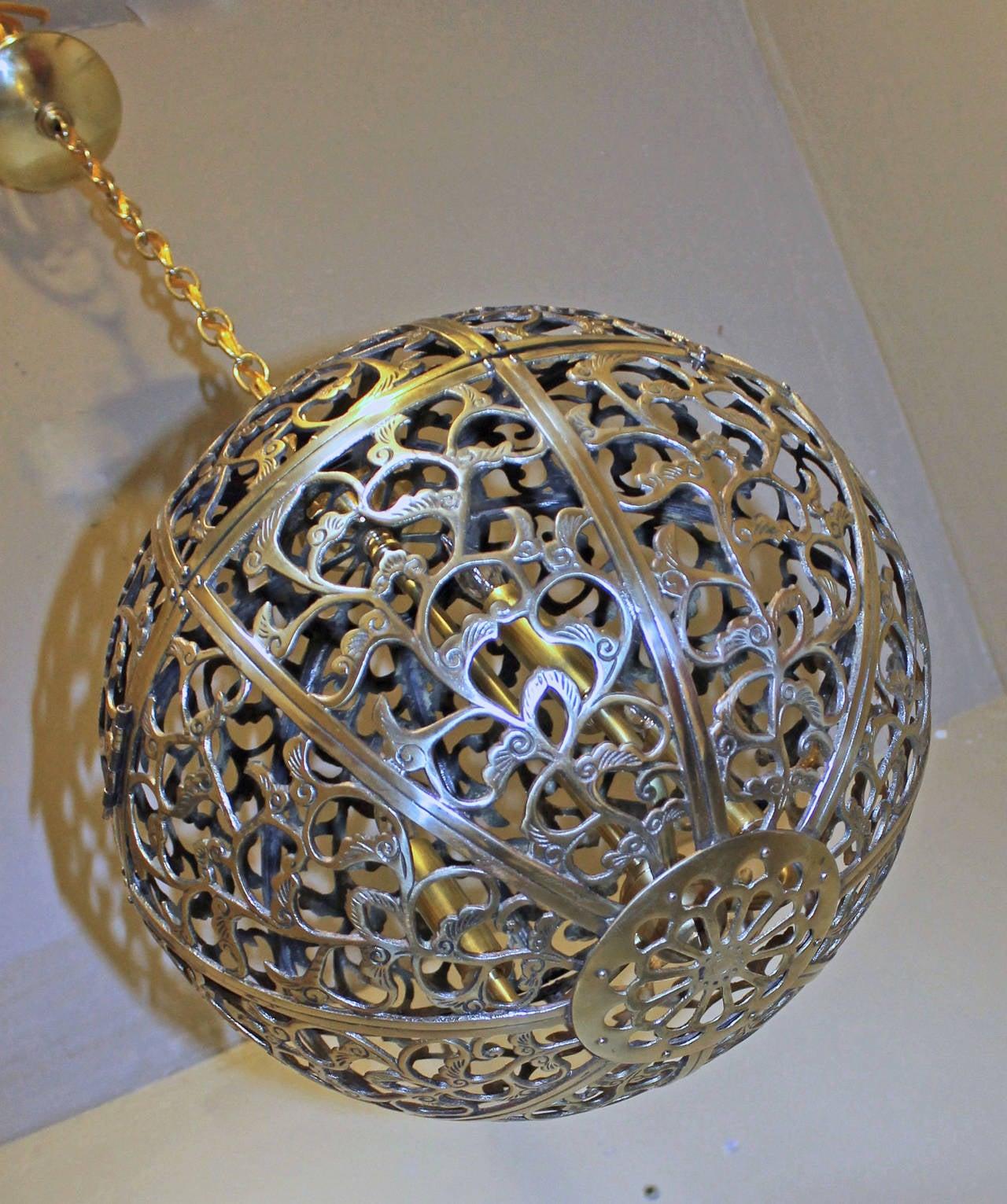 large pierced asian pendant light at 1stdibs