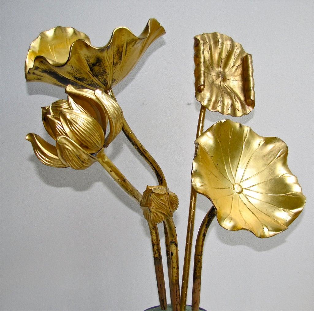 gilt wood buddhist altar lotus flowers japanese at 1stdibs