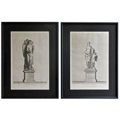 Pair of 19th Century Neoclassic Framed Prints