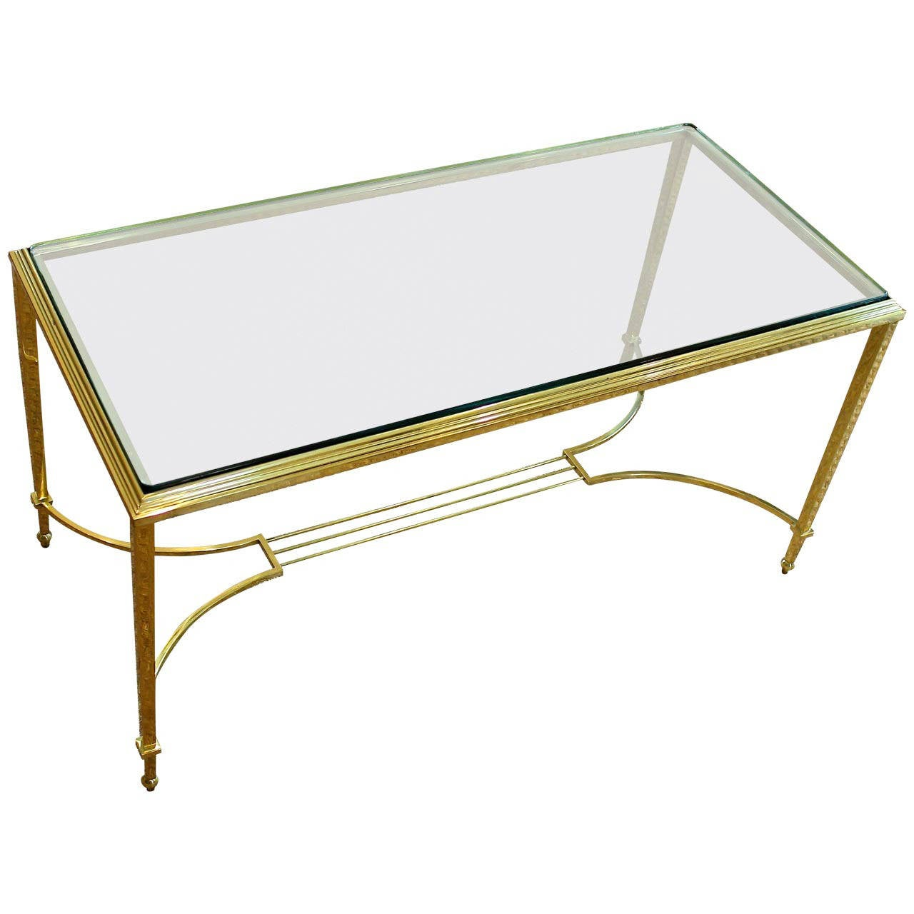 French Maison Jansen Style Solid Brass Cocktail Or Coffee