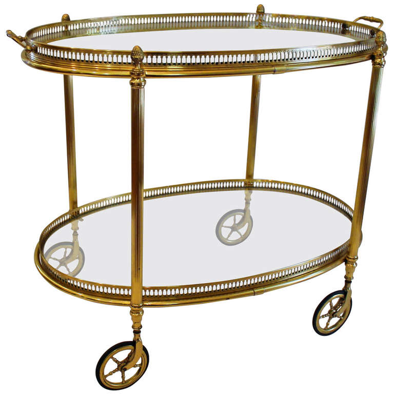 french brass bar cart at 1stdibs