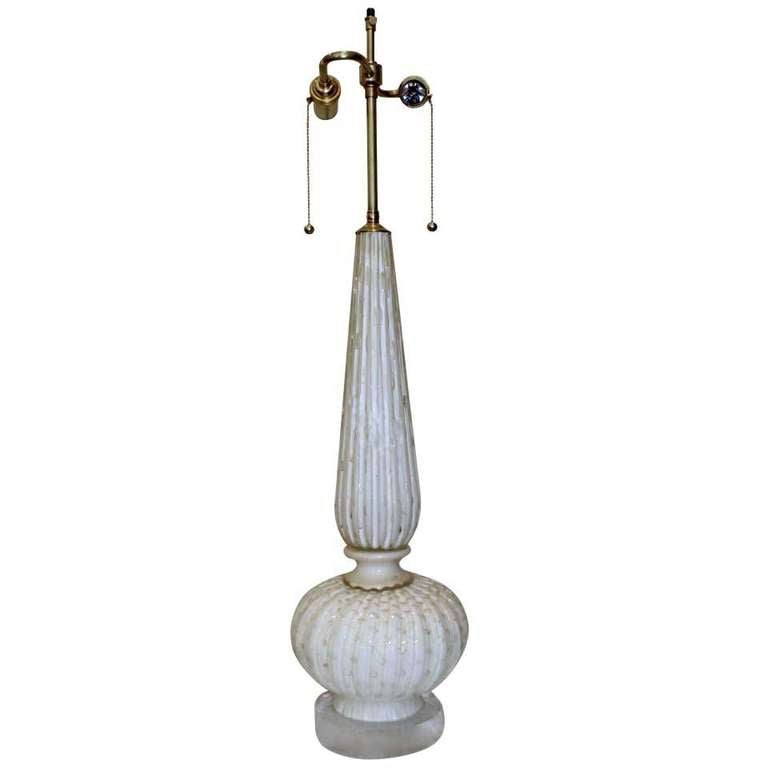 tall murano white gold controlled bubbles table lamp at. Black Bedroom Furniture Sets. Home Design Ideas