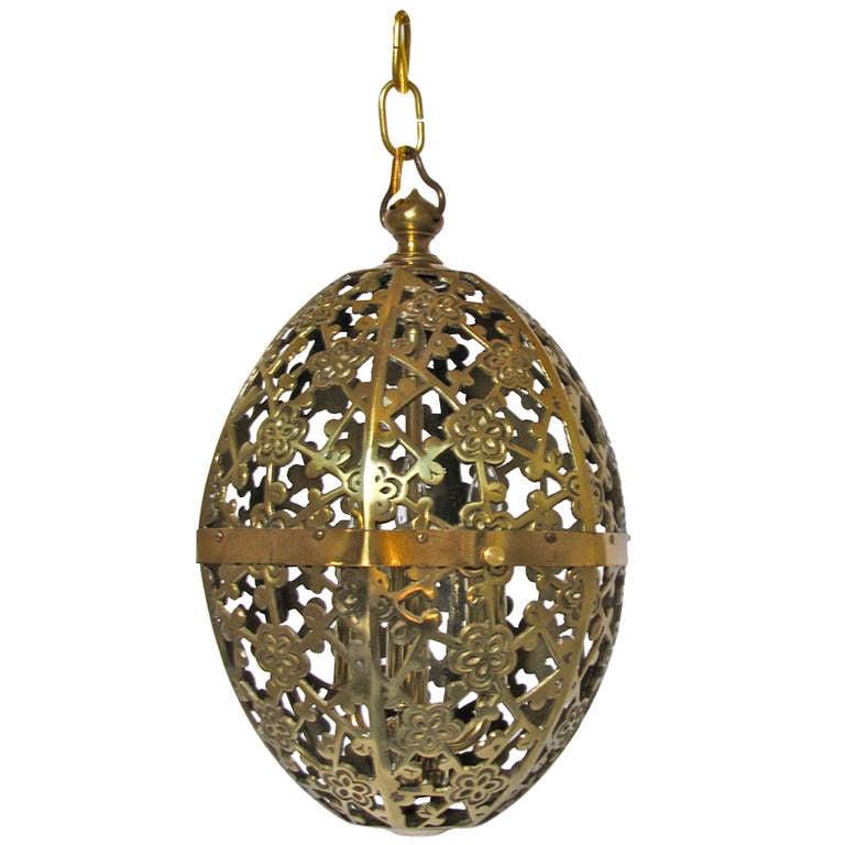 pierced brass asian ceiling pendant at 1stdibs