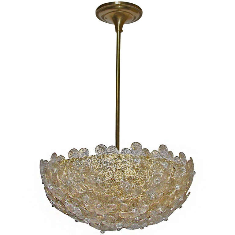 barovier murano glass floral light ceiling pendant at 1stdibs