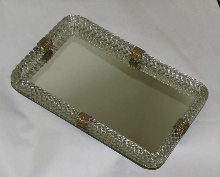 Venini Murano Twisted Glass Rope Vanity Tray At 1stdibs