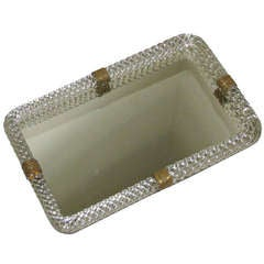 Venini Murano Twisted Glass Rope Vanity Tray