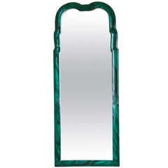 Italian Faux Malachite Wall Mirror