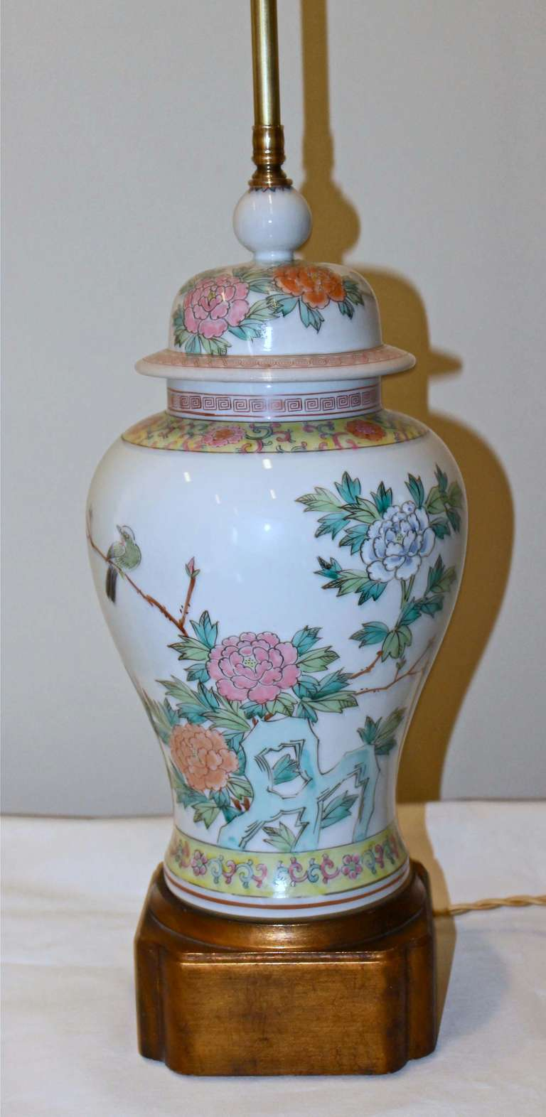 Asian Hand Painted Porcelain Table Lamp At 1stdibs