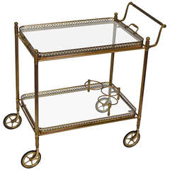 French Vintage Bar Cart or Side Table