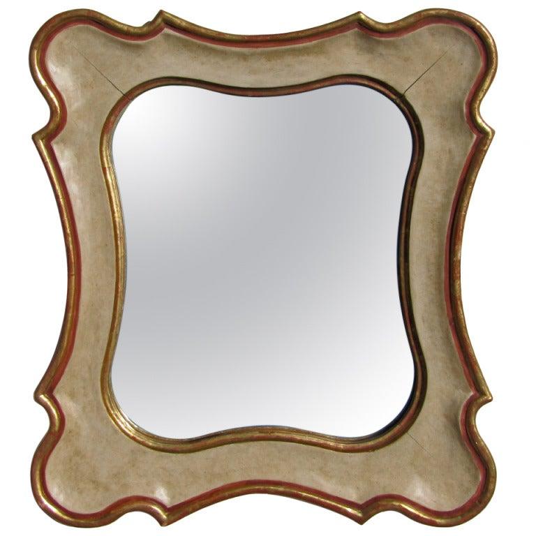 Italian Gilt Painted Wall Mirror