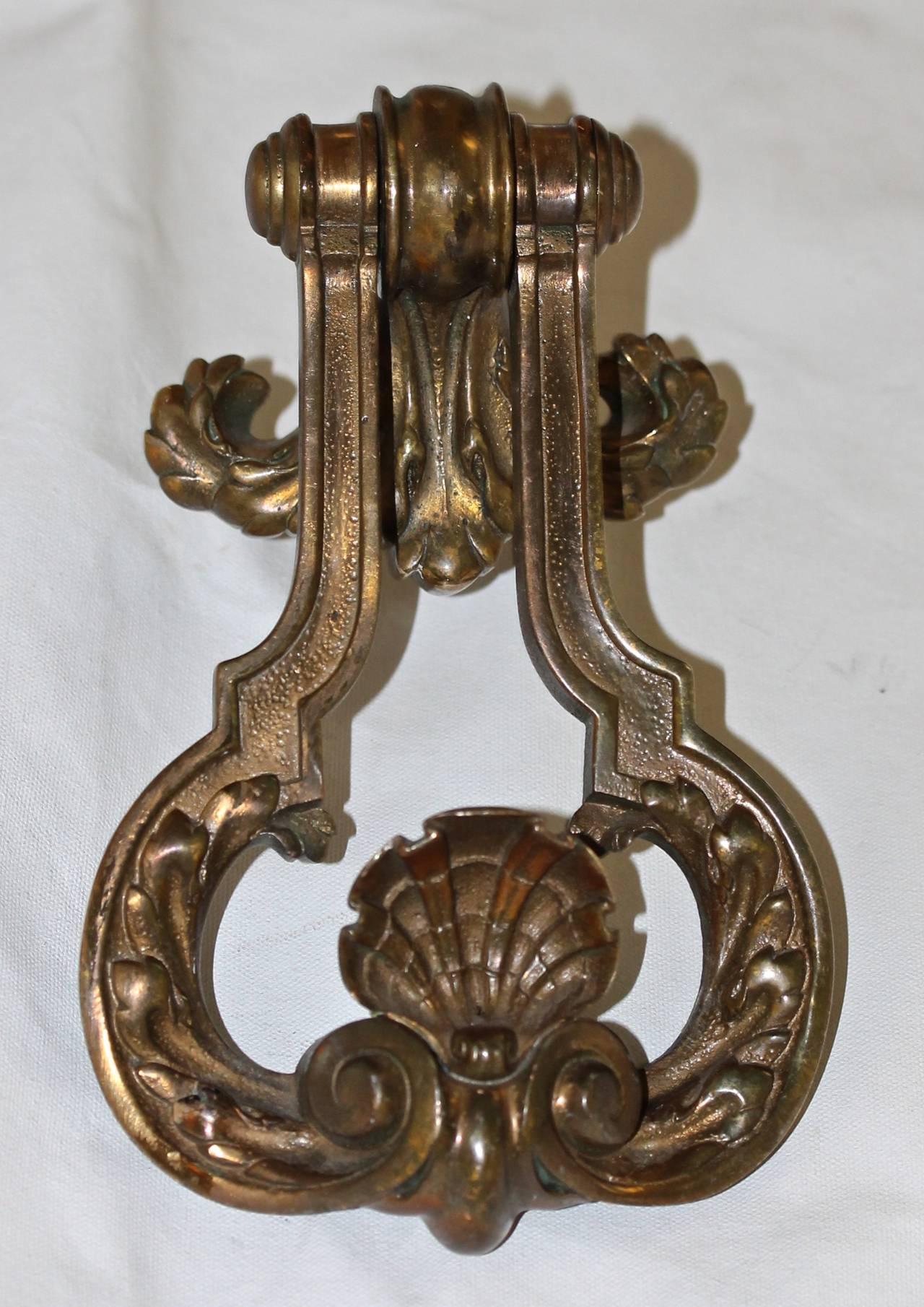 Large French Bronze Door Knocker At 1stdibs