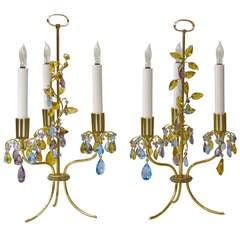 Rare Pair of Lobmeyr Haerdtl Table Lamps