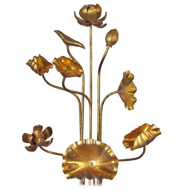 Buddhist Altars For Sale: Gilt Wood Buddhist Altar Lotus Flowers Japanese At 1stdibs
