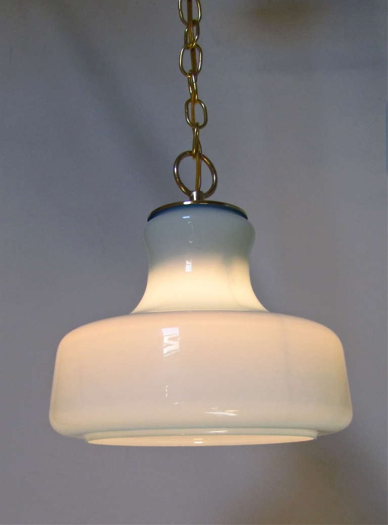 pair italian murano pale blue glass ceiling light pendants at 1stdibs. Black Bedroom Furniture Sets. Home Design Ideas