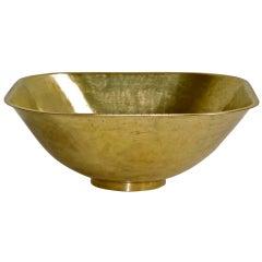 Hayno Focken Hammered Brass Bowl