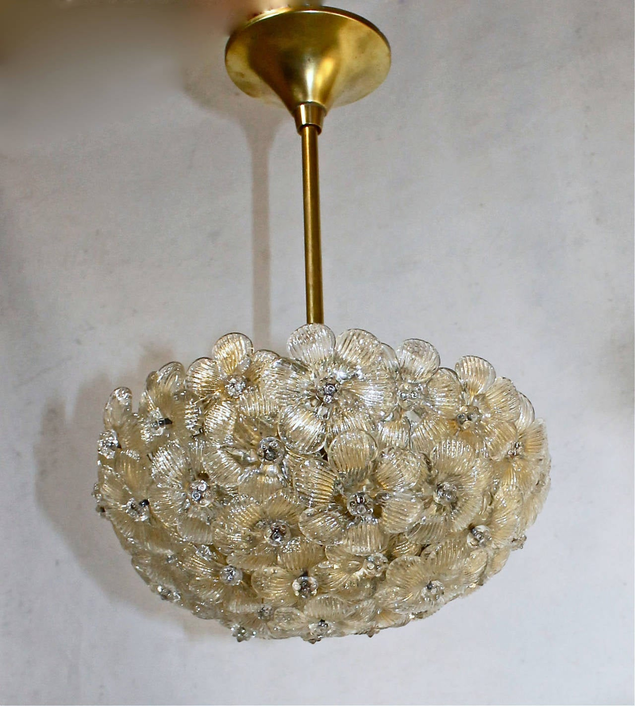 barovier murano glass floral light ceiling pendant at 1stdibs. Black Bedroom Furniture Sets. Home Design Ideas