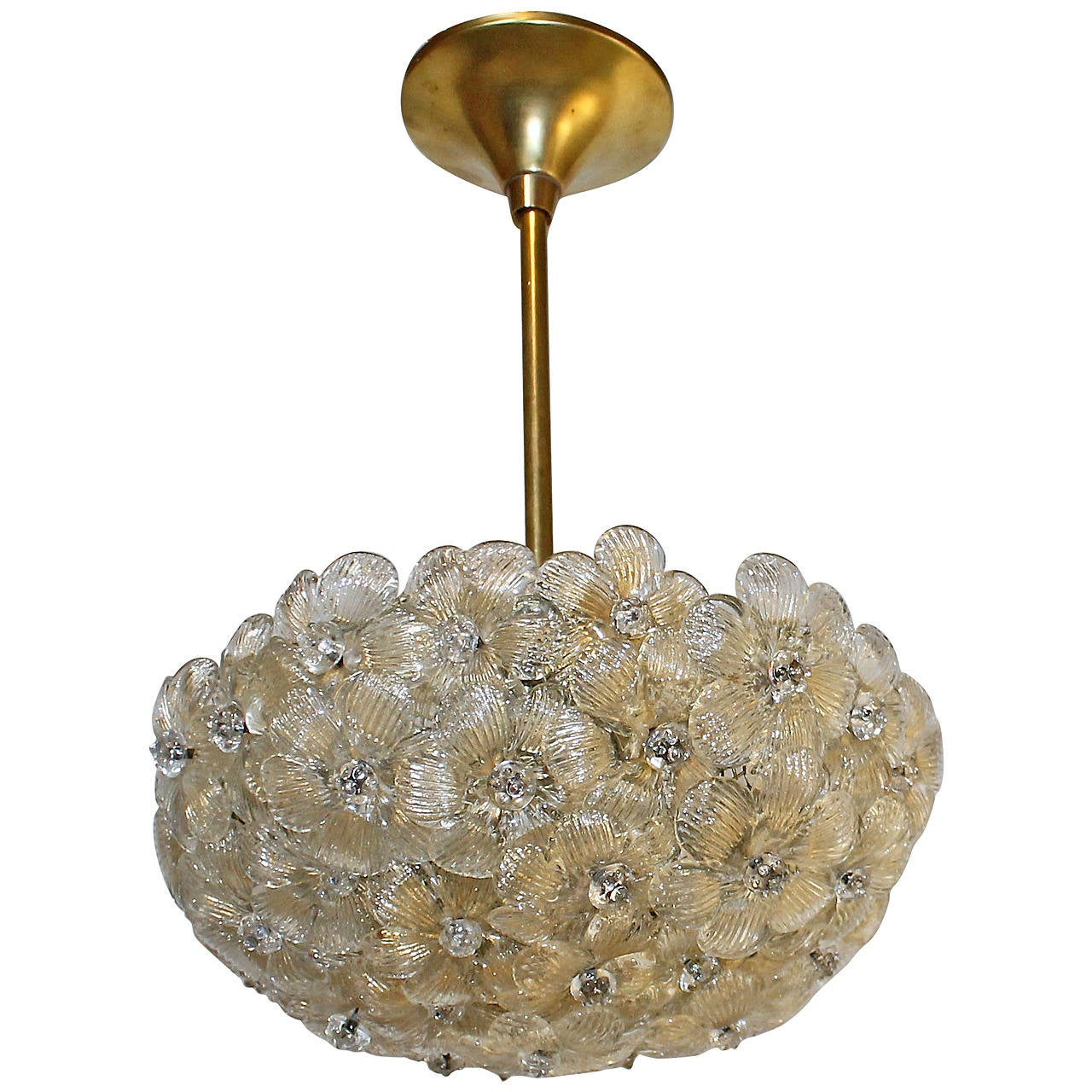 barovier murano glass floral light ceiling pendant for sale at 1stdibs. Black Bedroom Furniture Sets. Home Design Ideas