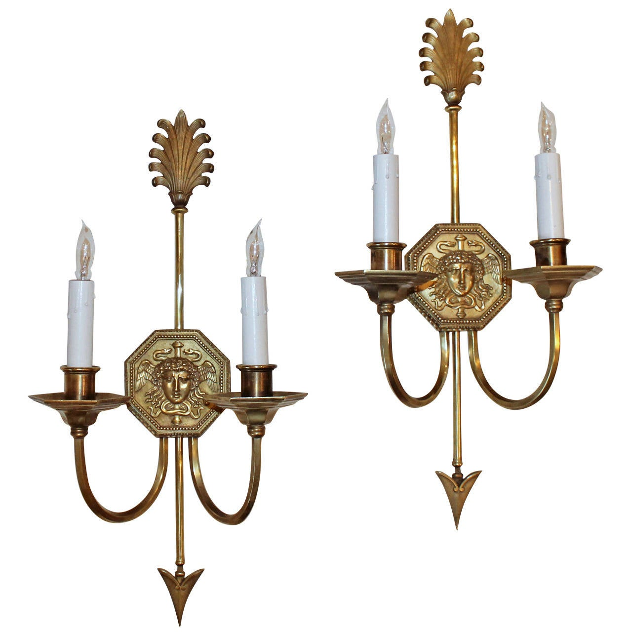 Skyrim Wall Sconces Not Working : Pair French Empire Style Arrow Wall Sconces at 1stdibs