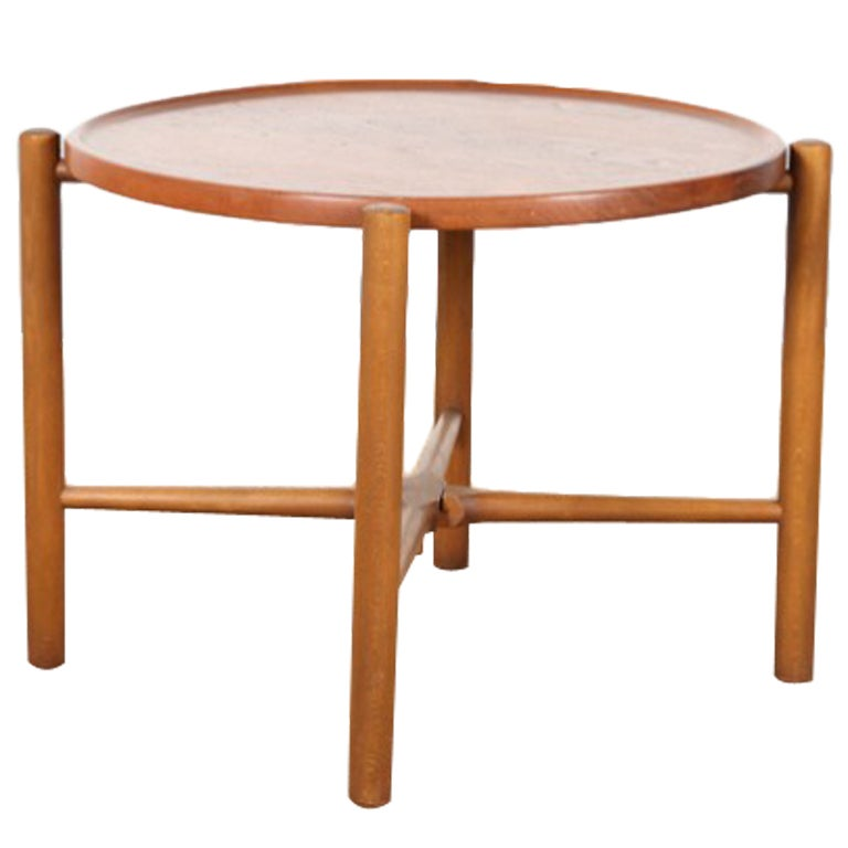 Scandinavian Round Coffee Table Model At 35 By Hans J Wegner At 1stdibs