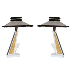 Pair of Table Lamps by Moss Lamps