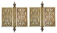 Pair of Solid Brass Victorian Hinges