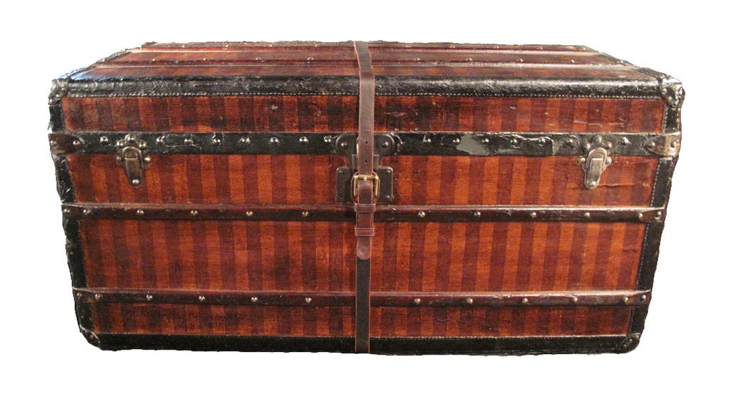 louis vuitton striped gentlemen u0026 39 s trunk and armoire ca  1880 at 1stdibs