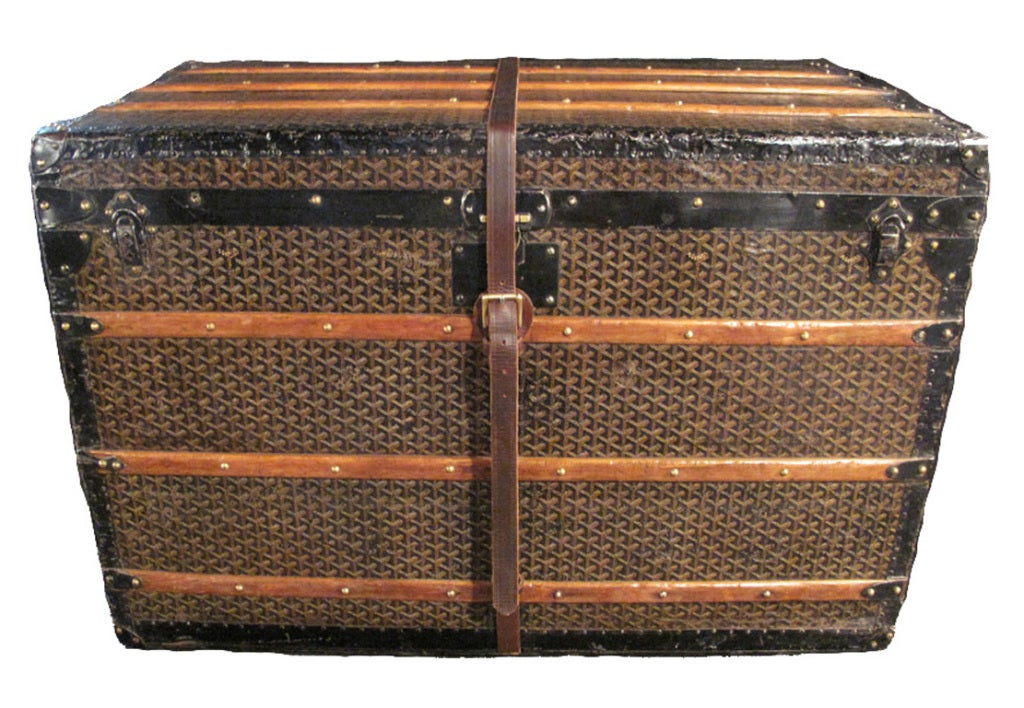 Goyard Steamer Trunk with Four Trays ca 1900 at 1stdibs