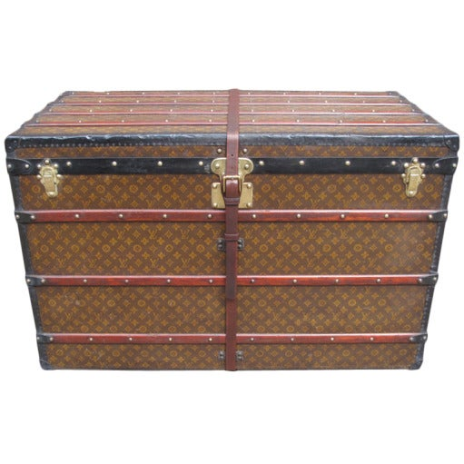 Louis Vuitton Gentlemans Steamer Trunk c1912