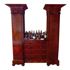 English mahogany 1840's pedestal cabinet