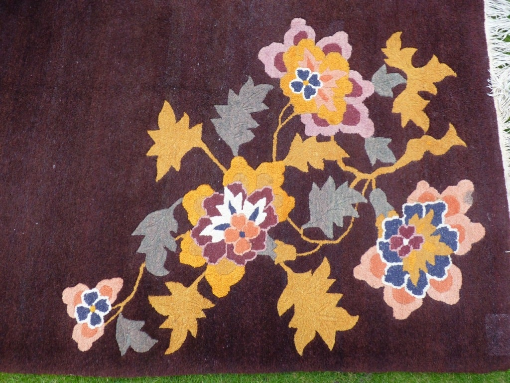Chinese 1940 s wool carpet image 3